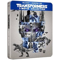 Transformers The Last Knight: 5-Movie Collection Blu-Ray & Digital HD Steelbox - Transformers News - TFW2005
