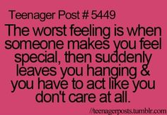 Yes. It hurts cause you always think what did I do wrong