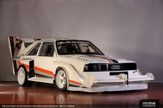 1986 Audi Quattro S1 E2 rally car built for the Pikes Peak event. I think they used this as the model for the Mad Max car.