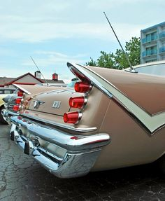these are some WOW-fins! American Dream Cars, American Classic Cars, Classic Trucks, Retro Cars, Vintage Cars, Antique Cars, Desoto Firedome, Desoto Cars, Dodge