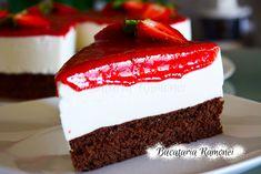 Tort-cu-iaurt-si-capsuni-f3 Mini, Cake, Desserts, Tailgate Desserts, Deserts, Kuchen, Postres, Dessert, Torte