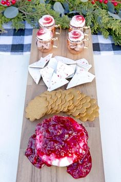 Cheese & cracker spread from a Favorite Things Holiday Dinner Party on Kara's Party Ideas | KarasPartyIdeas.com (19)