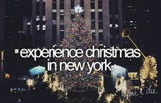 Bucket list..ive already done summer and fall in NY..Christmas is next!! ;D