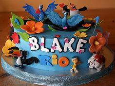 Rio Movie Birthday Cake and Cupcakes