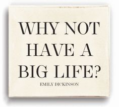 Why Not Have A Big Life? Glass Tray Back in Stock!!!