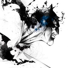 Batman by David Despeau.  Another cool splater like drawing of superheros