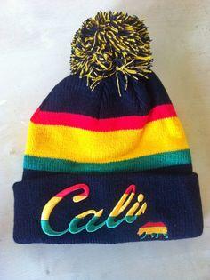 2ec36d3fa9d Brand New Rasta Style Cali Unisex Pom Pom Beanie by ShopSmileztm Flat Bill  Hats