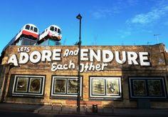 Shoreditch graffitti - underground railway carriages as urban art #London