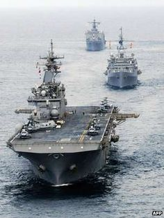 The USS Essex aircraft carrier and the Essex Amphibious Ready Group in the Andaman Sea (File picture)