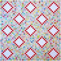 Scrap Busting - An Irish Chain Quilt Top | Red Pepper Quilts | Bloglovin'