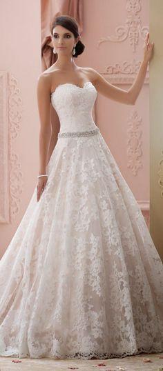 A-Line Wedding Dress   David Tutera for Mon Cheri Spring 2015 Bridal Collection