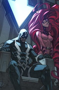 Black Bolt and Medusa by Joe Madureira