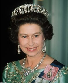 The Grand Duchess Vladimir tiara is one of the most enduring pieces in the Queen's collection - and by far the most complex. It's made of 15 intertwined diamond-set ovals, from which hang pendants of either pearls or emeralds - or occasionally neither