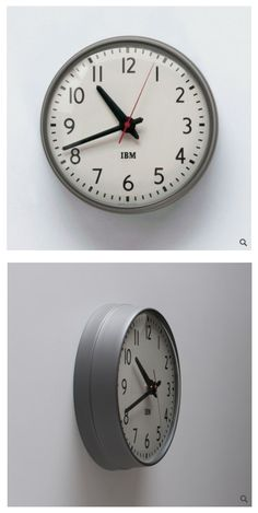 1960′s IBM 13.5″ Standard Issue Clock available from Schoolhouse Electric.