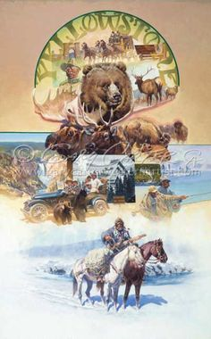 """""""For the Benefit and Enjoyment of the People"""" Gary Carter is a well known cowboy artist from West Yellowstone. Gary Carter, Longhunter, West Yellowstone, Mountain Man, Western Art, Westerns, Benefit, Paintings, Artists"""