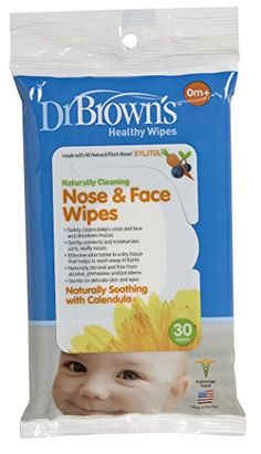 Dr. #Brown's nose and face wipes are made with all-natural, plant-based xylitol, which discourages harmful bacteria. These gentle wipes make it easy to reduce di...