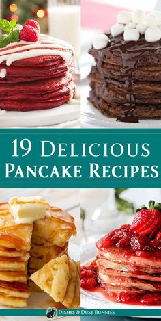 19 Delicious Pancake Recipes - I love trying new recipes and variations of panca. - 19 Delicious Pancake Recipes – I love trying new recipes and variations of pancakes – there are - Yummy Pancake Recipe, Tasty Pancakes, Breakfast Pancakes, Pancake Recipes, Blueberry Pancakes, Pancake Ideas, Blueberry Breakfast, Bread Recipes, Gastronomia