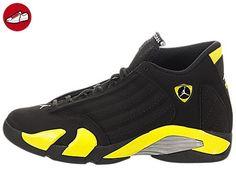 9cbb983a66ee07 Air Jordan 14 BG Big Kids Shoes Black Vibrant Yellow-White 487524 ...