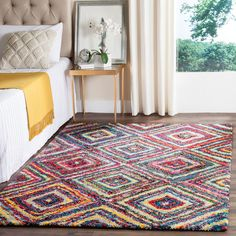 Shag Collection FSG384M Color: Multi  #rug #carpet #safavieh #safaviehrug  #trendy #homedecor #homeaccents #shophome #livingroom #diningroom #bedroom #kitchen #office #rugsforyourhome #shag #shagrug #shagcarpet #softshagrugs #shagrugdesign #stunningshagrugs #safaviehshag #safaviehshagrugs #trendyrugs #bestrugs #bestrugprices