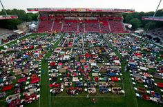 German Cup Fans Bring Living Room Outdoors