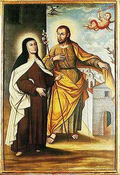 el blog del padre eduardo: Santa Teresa y San José