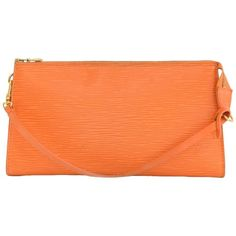 Louis Vuitton Pochette Accessories Orange Epi Leather Hand Bag 1