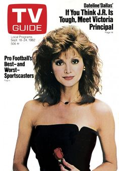 September 18, 1982,  Togehter with hershelf is Victoria Principal  and. What is it yes it Pamela Ewing from TV-SERIES is Dallas, Togehter with hershelf is Victoria Principal.