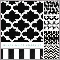 "BLACK WHITE CURTAINS - Pair of Curtain Panels.25"" Wide. 50"" Wide. Custom Sizes Available.Unlined.Lining Available.Window Treatments by erinlanglanddecor on Etsy https://www.etsy.com/listing/192006224/black-white-curtains-pair-of-curtain"