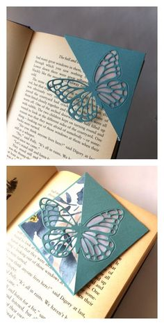 Use design punch on folded paper Creative Bookmarks, Cute Bookmarks, Bookmark Craft, Corner Bookmarks, Origami Bookmark, Paper Bookmarks, Vintage Bookmarks, Marque Page Origami, Watercolor Bookmarks