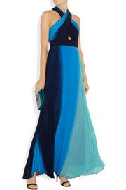 Alice + OliviaJaelyn ombré georgette maxi dress