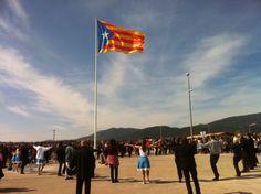 Estelada a Caldes de Montbui / 'Estelada', the flag of Catalan independence, in Caldes de Montbui (03/03/13) foto d'@ANCaldesmontbui