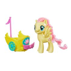 My Little Pony Friendship is Magic Fluttershy Royal Spin-Along Chariot