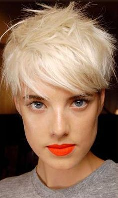 """MAC Morange, which is truly… the brighest of the bright. Agyness Deyn can pull it off perfectly!"""