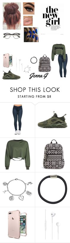 """""""42nd day of school...♡"""" by iamjennagarcia on Polyvore featuring NIKE, WithChic, Vera Bradley, Love This Life, Hershesons and ZeroUV"""