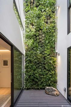 Smoke Alarms, Facade Architecture, Plant Wall, Balcony Garden, Garden Inspiration, Indoor Outdoor, Woodland, San Francisco, Real Estate