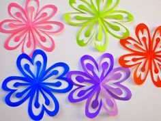 How To Make Colorful Kirigami Flowers Paper Craft WorkPaper