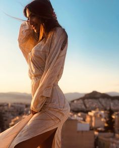 . #thehieria #collection #luxury #lifestyle #clothing #collectiongreekislands #idefy #summer #fashion #style #goldendress Golden Dress, Lifestyle Clothing, Greek Islands, Luxury Lifestyle, Wrap Dress, Statue, Photo And Video, Summer, Clothes