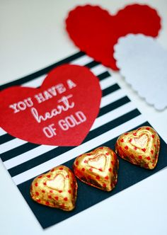 "Delightfully Noted: ""You Have a Heart of Gold"" Valentine Printables"