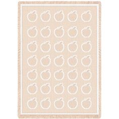 Apples Art Tapestry Throw, Natural