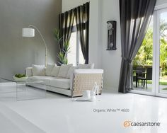 Similar in design to Buttermilk, Caesarstone Organic White is a lightly patterned off-white surface with dark white lowlights. Caesarstone Organic White, Custom Made Furniture, Stairways, Feature Walls, Couch, Colours, Flooring, Modern, Room