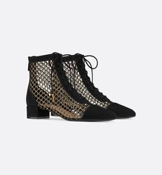 Black Naughtily-D Suede and Gold Fishnet Boot - Shoes - Women's Fashion Black Suede, Black Boots, All Black Outfits For Women, Shoe Collection, Spring Collection, Fishnet, Handbag Accessories, Leather And Lace, Shoe Boots