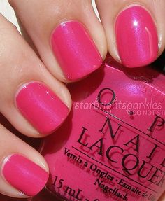 OPI ~ That's Berry Daring berry pink nails Opi Nail Colors, Pretty Nail Colors, Pretty Nails, Nail Colour, Opi Nail Polish, Nail Polish Designs, Opi Nails, Manicures, Fancy Nails