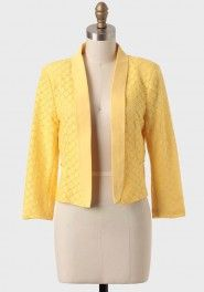 i've got sunshine lace blazer