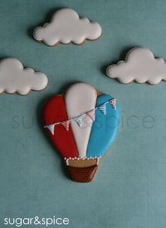 Hot Air Balloon cookie www.etsy.com/shop/shopforsugarandspice