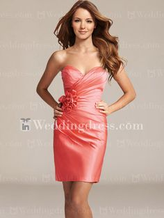 Satin Sweetheart Cocktail Bridesmaid Dress   http://www.inweddingdress.com/style-br286.html