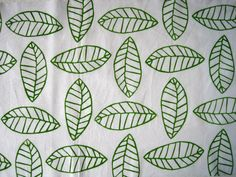 Hand stamping fabric with hand carved stamp: