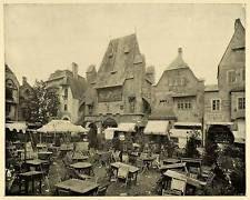 1893 Print Chicago World's Fair Old Vienna Plaisance