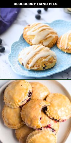 Looking for an award-winning blueberry hand pie recipe? These easy, delicious hand pies are filled with a blueberry filling that will leave your mouth watering for more. Köstliche Desserts, Delicious Desserts, Dessert Recipes, Yummy Food, Fruit Recipes, Tasty, Kitchen Gourmet, Fried Pies, Blueberry Recipes