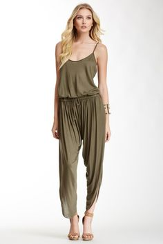 Spaghetti Strap Harem Jumpsuit by Haute Hippie on @HauteLook