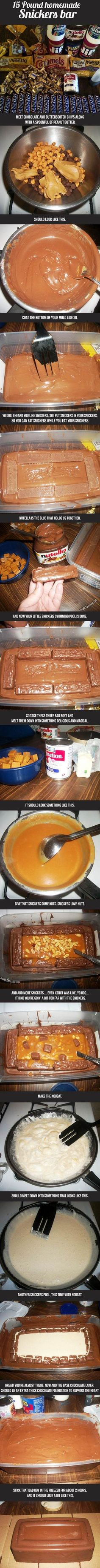 How To Make A 15 Pound Snickers Bar